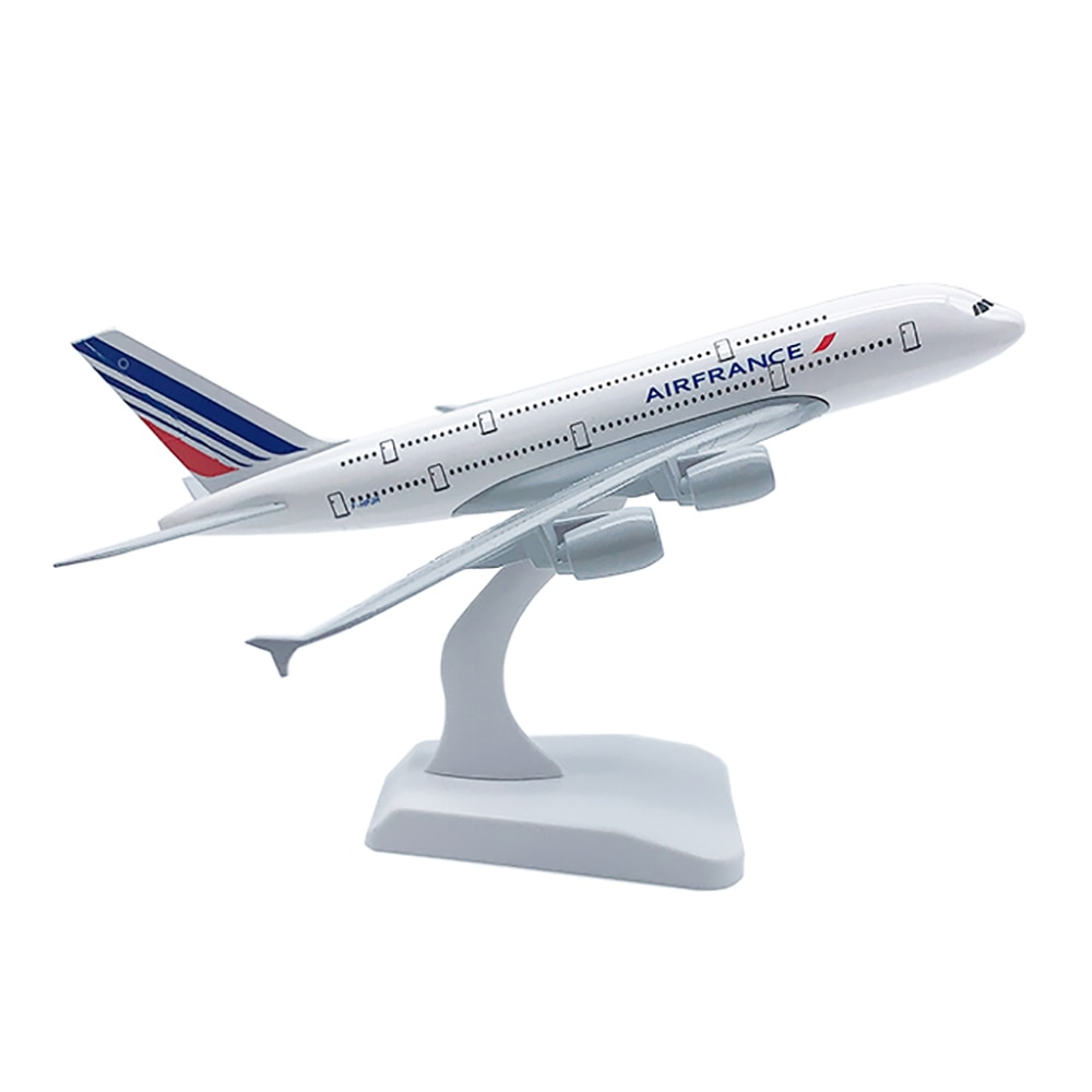 18cm Aircraft Airbus A380 Air France Alloy Plane Model Toys Children Kids Gift for Collection Decorations