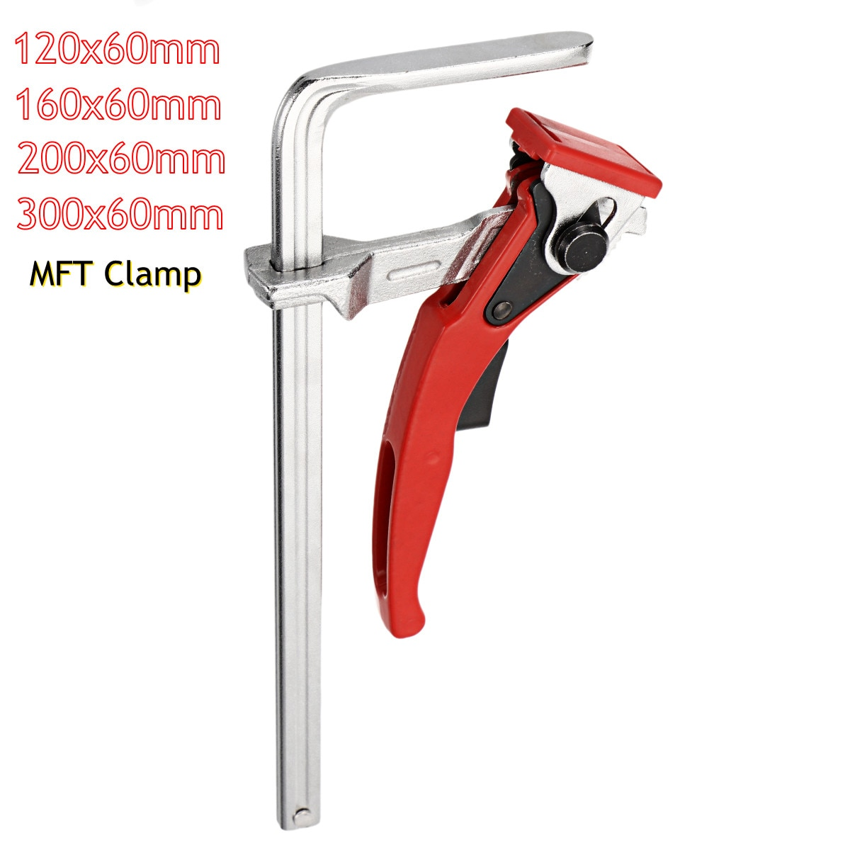 Quick Guide Rail Clamp Different Sizes F Clamp MFT Clamp for MFT and Guide Rail System Hand Tool Woodworking DIY