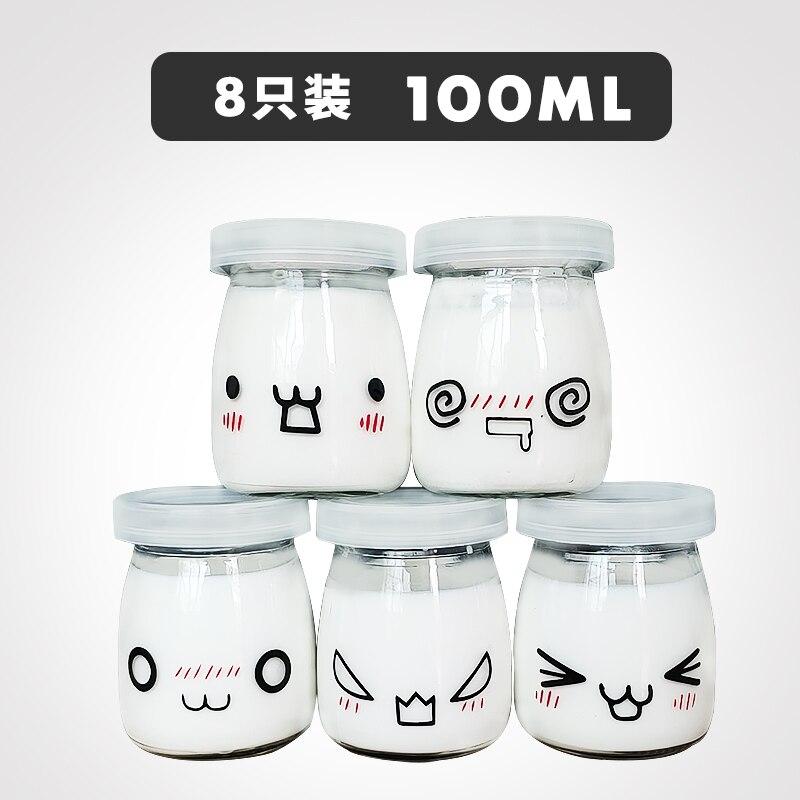 Frasco de postre de vidrio de 16 uds que desea miel, contenedores de yogur, taza de leche para el hogar, tienda de postres, restaurante, tarro de gelatina de 100/150/200 ML