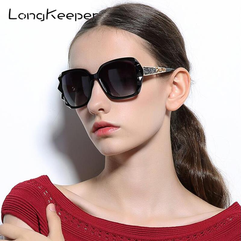 Longkeeper óculos de sol feminino polarizado, óculos de sol clássico, polarizado, composto, para dirigir, 2289