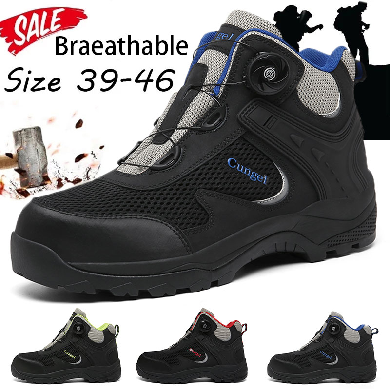 New Steel Toe Boots,Mens Work Safety Outdoor Protection Footwear Industrial and Construction Boots