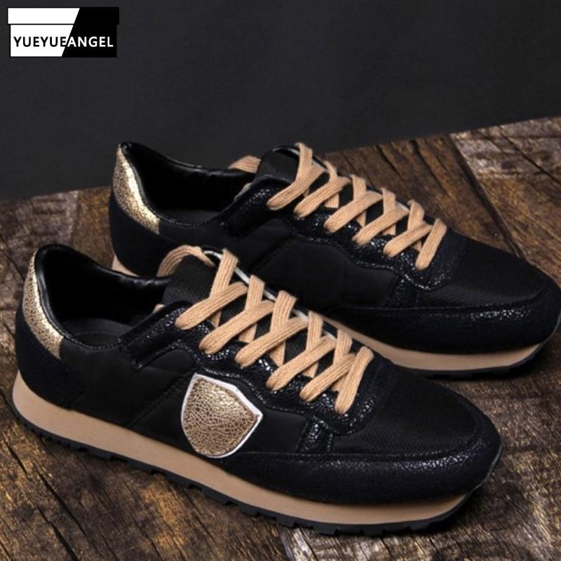 حذاء رياضي برباط للرجال ، حذاء رياضي أبيض غير رسمي ، مسامي ، للربيع والخريف