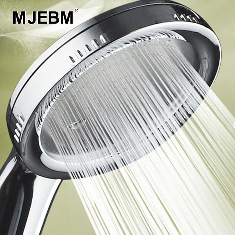 1PC Pressurized Nozzle Shower Head  Bathroom Accessories High Pressure Water Saving Rainfall ABS Chrome  Shower Head