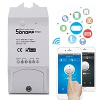sonoff th16th10 smart wifi switch temperature humidity monitor smart switch home automation kit works with alexa google home