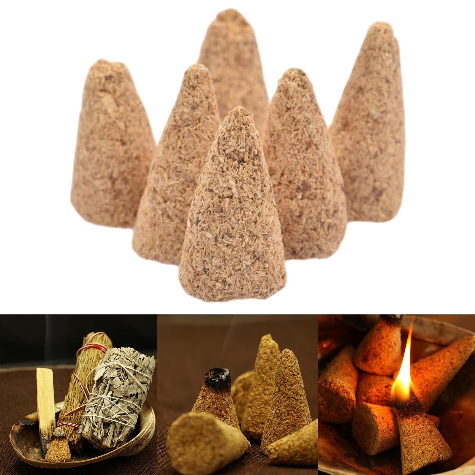 Ароматические благовония для помещений из натурального сандалового дерева, 6 шт.