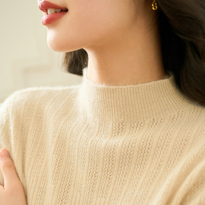 Women Pullovers 100% Cashmere Sweater Winter New Turtleneck Solid Warm Jumper Woman Elastic Slim Fit Knitwear Girl Clothes enlarge