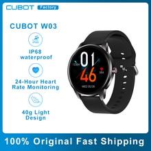 CUBOT W03 Men Women Smartwatch IP68 Waterproof Ultra-light Heart Rate Monitoring Couples Sport Smart