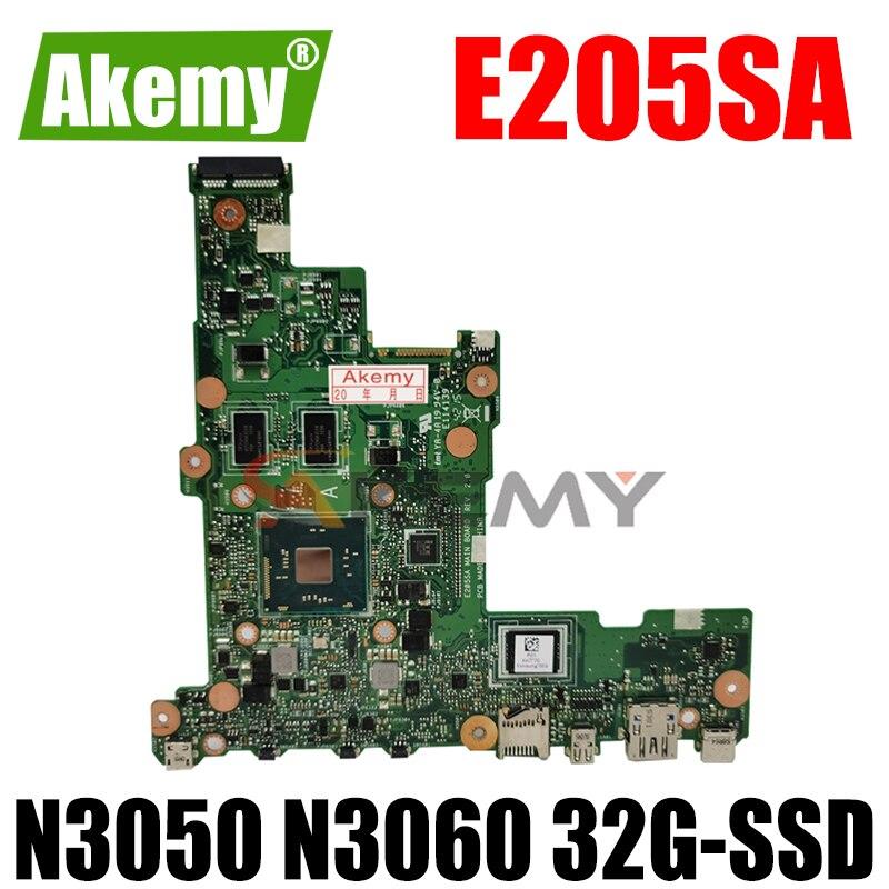 Akemy E205SA لوحة أم للكمبيوتر المحمول Asus Eeebook Flip E205S TP200S TP200SA اللوحة الأم N3050 N3060 32G-SSD