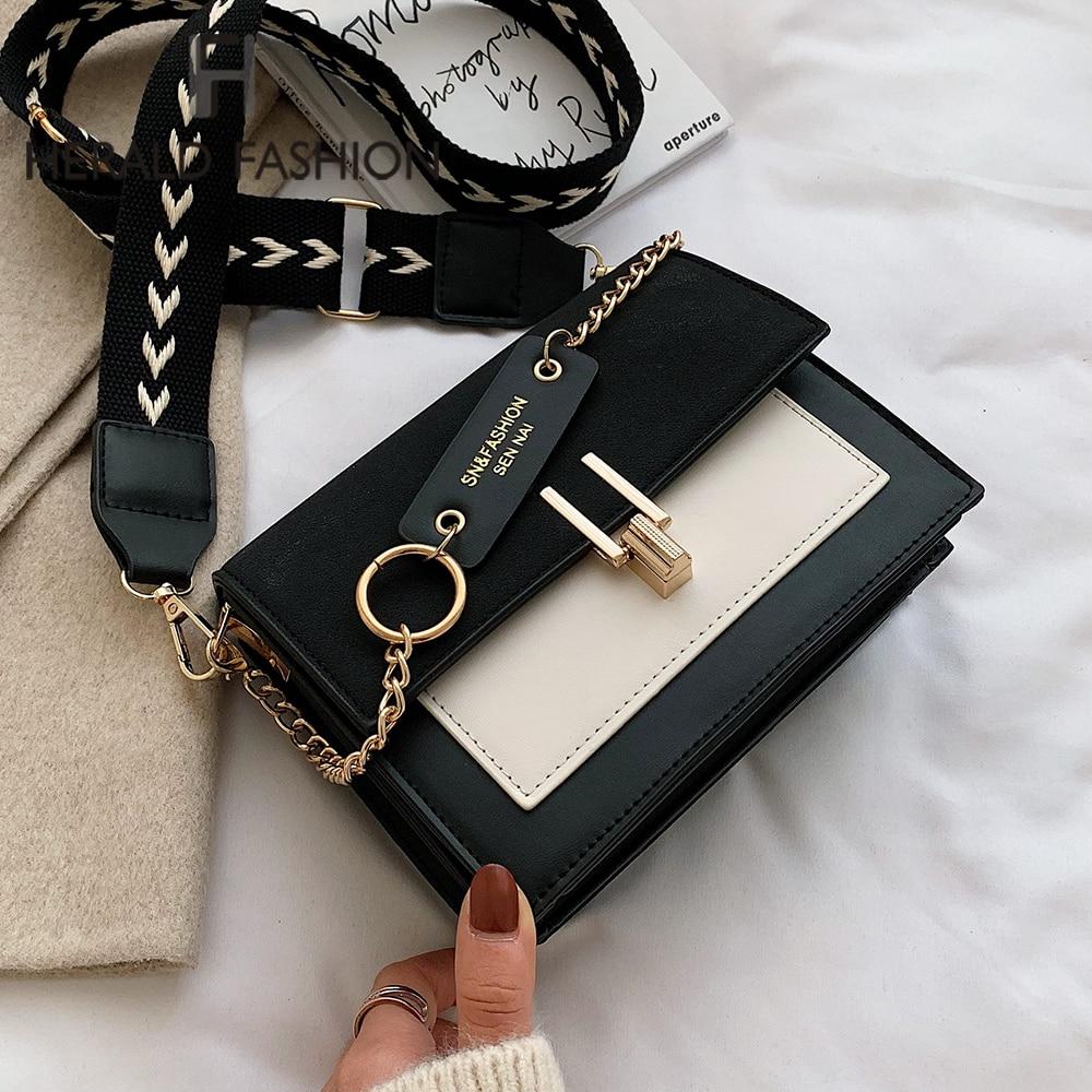 2020 nuevos Mini bolsos de mano de moda para mujer ins Ultra Fire Retro correa de hombro ancha bolso de mensajero bolso de estilo Simple bolsos cruzados