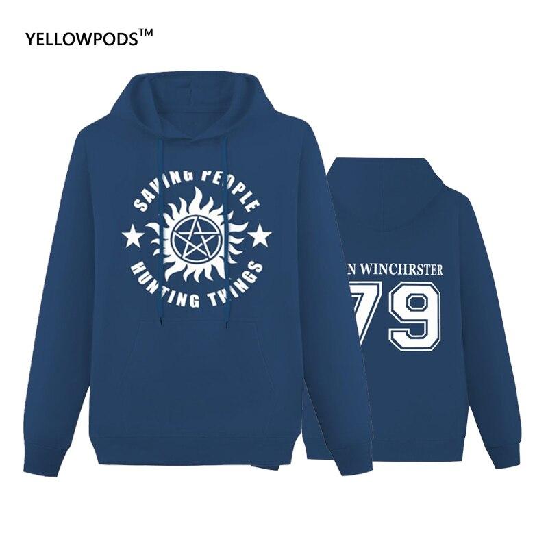 Двухсторонние свитшоты Yellowods для взрослых, Дин Винчестер, мужские свитшоты, одежда для отдыха