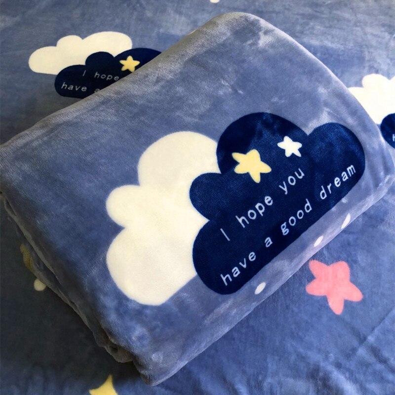 الأزرق غطاء بطانية السرير الفانيلا الدافئة مريح الصوف مصمم رمي بطانية المخملية النسيج مانتاس دي كاما المنتجات المنزلية DF50GT
