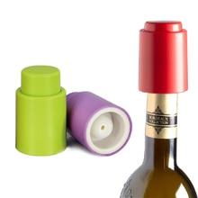 Vacuum Wine Stopper Plastic silicone Press type Pump Vacuum wine stopper Beverage Bottle Seal Cap