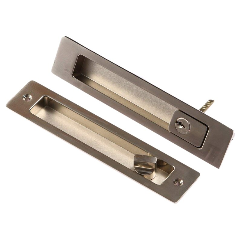 SZS Hot Invisible porte coulissante loquet serrures poignée pour grange porte en bois salle de bains cuisine balcon