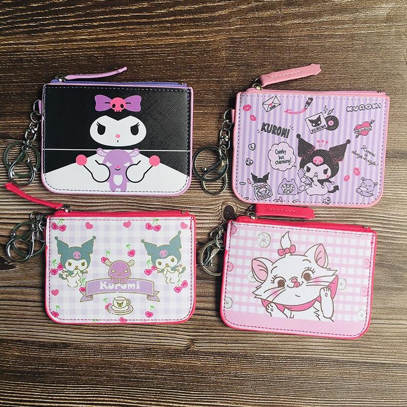 Simple Kuromi Wallet Keychain Man Key Chain Bags Women Purse Key Ring Chain for Pants Kid High Quality Key Holder Fashion Brelok