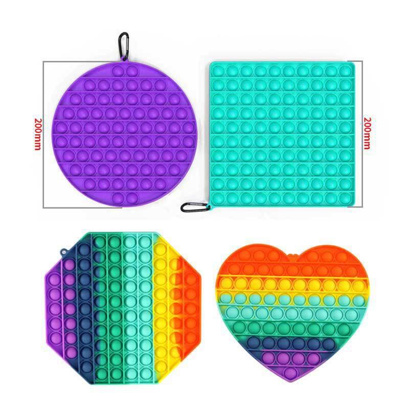 Hot Push Bubble Fidget Toys Pops It Square Antistress Toy Figet Sensory Squishy Jouet Pour Autiste For Adult Children Gift enlarge