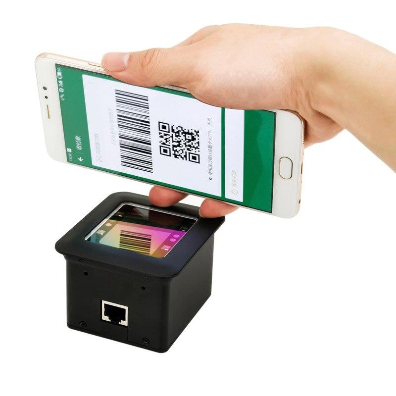 RAIDA Wiegand USB montaje fijo integrado 2D código de barras escáner módulo motor lector de código Qr kiosco para el sistema de Control de acceso de estacionamiento