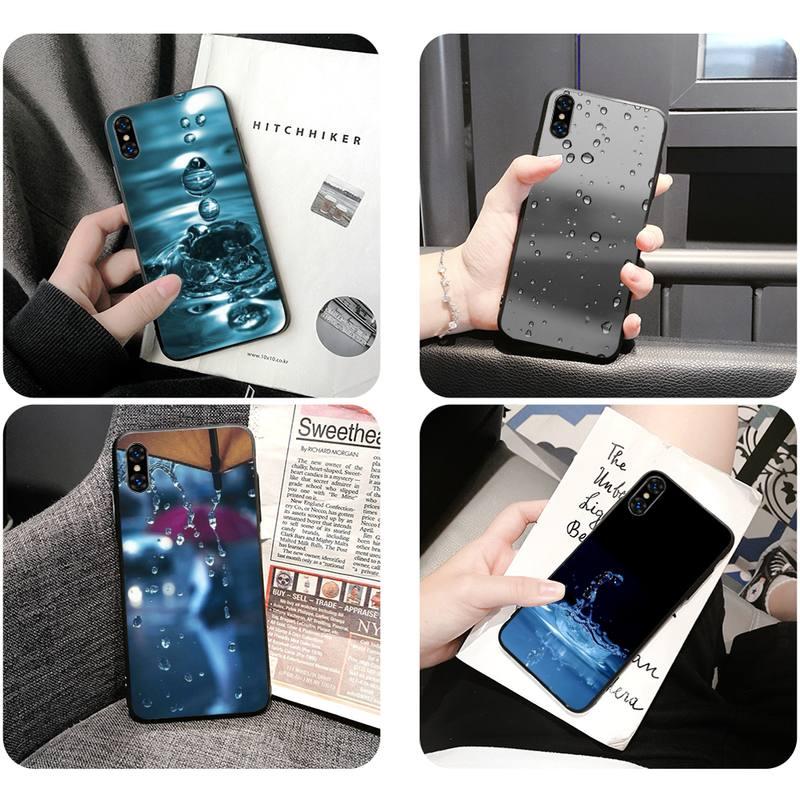 Funda de teléfono blanda con gotas de agua caliente para Iphone 11 Pro Max Xr Xs Max 6S 8 7 Plus