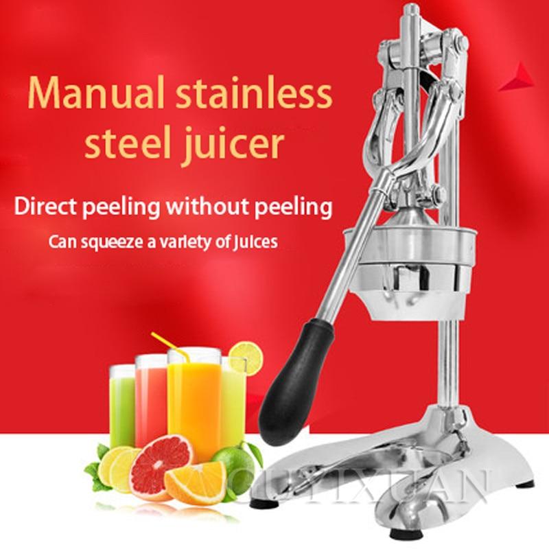 Exprimidor de acero inoxidable para el hogar, máquina de prensado de naranjas, exprimidor comercial de jugo de naranja, máquina de zumo de fruta