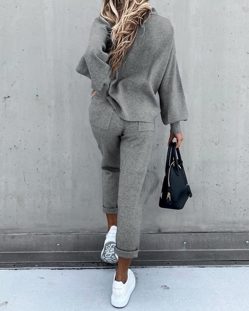 Winter Autumn Two Piece Set Tracksuit Women Velvet Plus Oversize Sweatshirts Casual Femme Suits Tops Pant