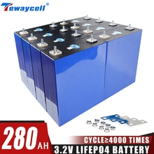 Tewaycell 280Ah Lifepo4 Rechargable Battery Pack 3.2V Grade A Lithium Iron Phosphate Prismatic New Solar  EU US TAX FREE lifepo4