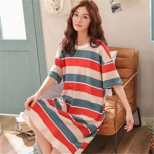 2021 pajamas women Korean pajamas women nightdress short sleeve ladies summer home clothes dress students cute size 잠옷 유니콘