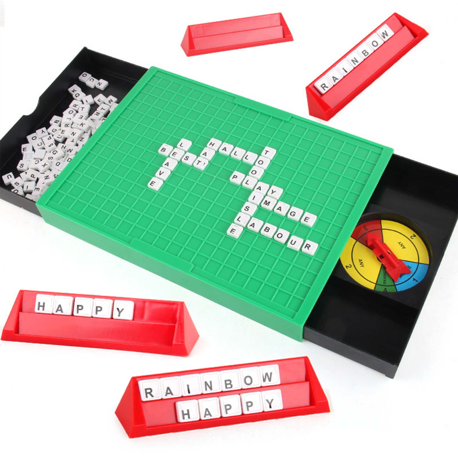 Word Spelling Game Toy Plastic Games English 100 Letters Recognition Alphabet Kids Learning Education