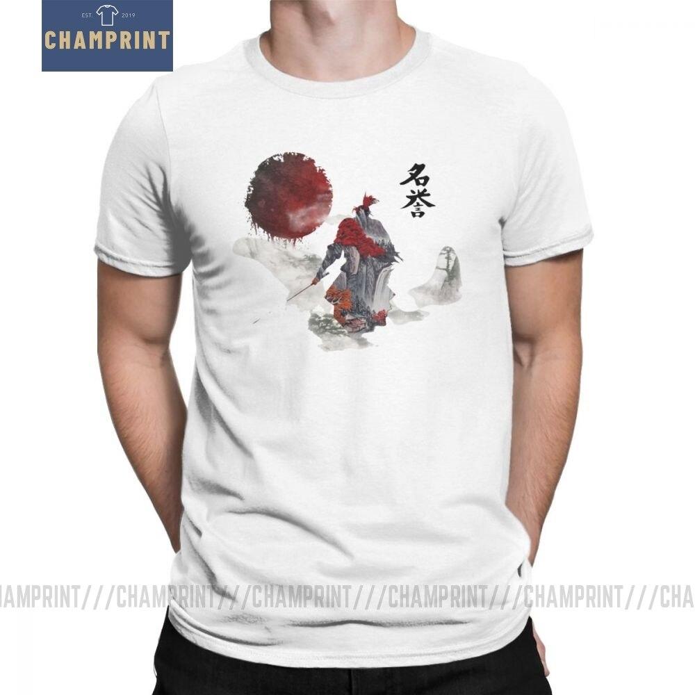 Way Of The Samurai camiseta hombres Samurai japonés Bushido camisetas de diseño Vintage de manga corta Camiseta de cuello redondo 100% camisetas de algodón