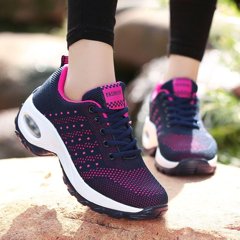 Women's Sports Shoes Women Casual Shoes  Breathable Walking  Flat Shoes  Sneakers Female  Sneakers Outdoor Walking Jogging walking shoes reebok club c 85 bs6786 sneakers for female tmallfs