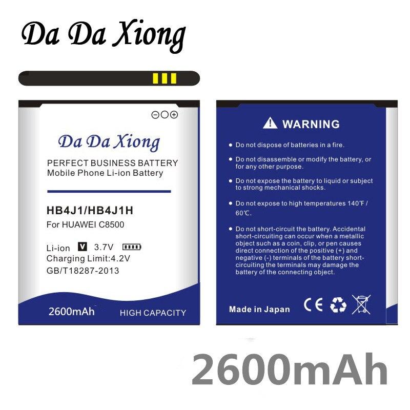 Аккумулятор Da Xiong 2600 мАч HB4J1 / HB4J1H для Huawei C8500 U8150 U8120 V845 IDEOS X3 T8300 U8500S T8100