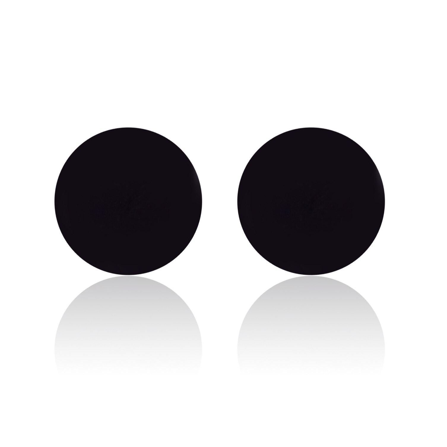 Simple Stainless Steel Round Earrings Geometric Women Men Hip hop Cylinder Stud Earring Minimalist J