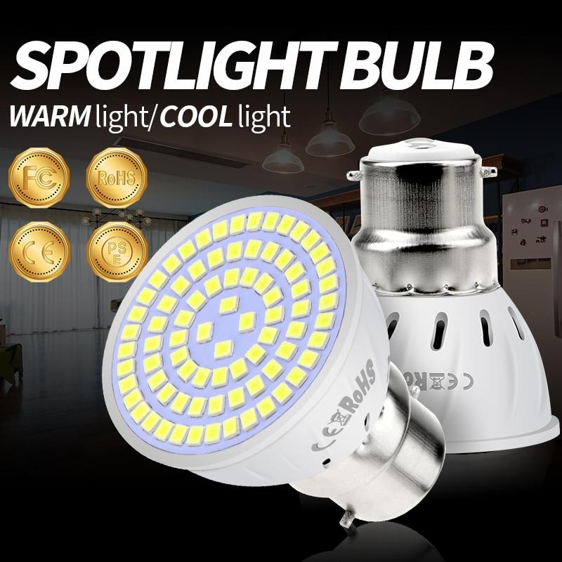 220V Lampada Led MR16 Corn Bulb E27 E14 Led Lamp SMD2835 GU10 Led Licht Voor Thuis B22 Power Watt 4W 6W 8W Ultra Bright Spotlight