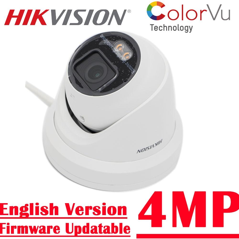new in stock  4MP DS-2CD2347G2-L Better than DS-2CD2347G1-L Hikvision ColorVu IP Camera POE Turret Network Full Color
