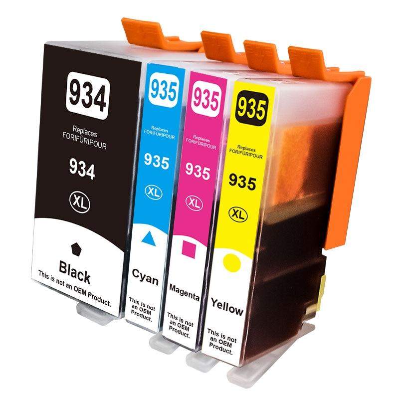 4 предмета в комплекте, для HP 934XL HP 935XL совместимые чернильные картриджи 934 935 для HP Officejet Pro 6812 6830 6815 6835 6230 6820 принтер