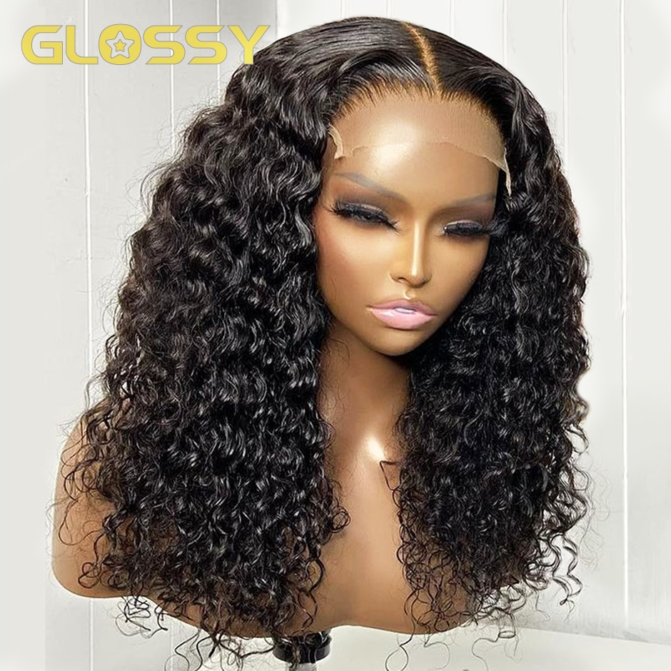 Brazilian Curly Bob Human Hair Wig 13x4 Deep Wave Lace Front Human Hair Wigs for Women HD Transparent Lace Frontal Closure Wig