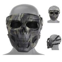 Airsoft Paintball crâne masque tactique Sports de plein air moto cyclisme tir masque de chasse hommes femmes Cs masques militaires