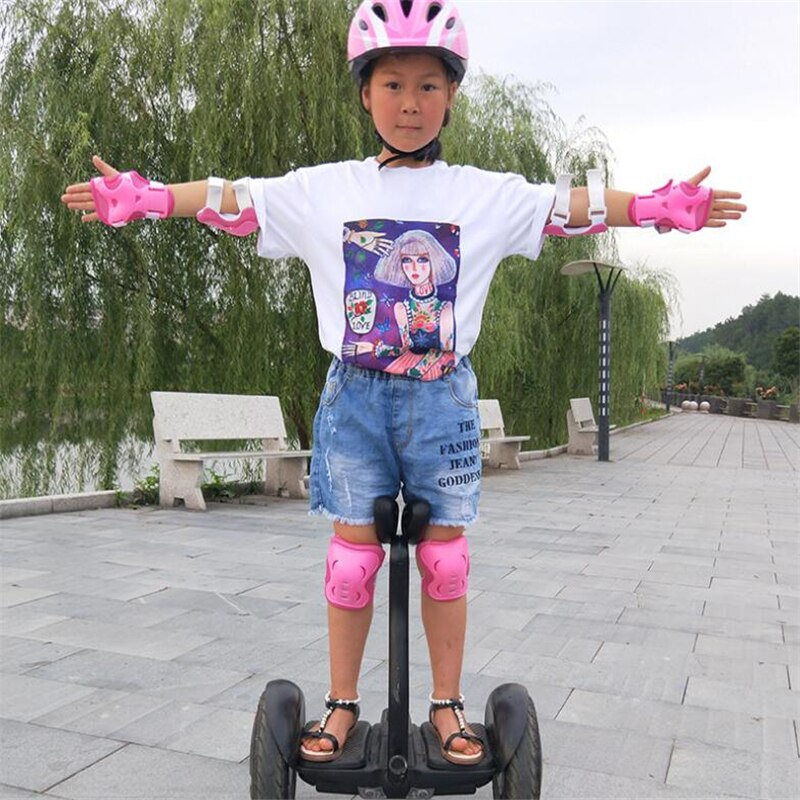 6 Pcs/set Kids Outdoor Sports Protected Gear Knee Pads Elbow Pads Wrist Guards Roller Skating Safety