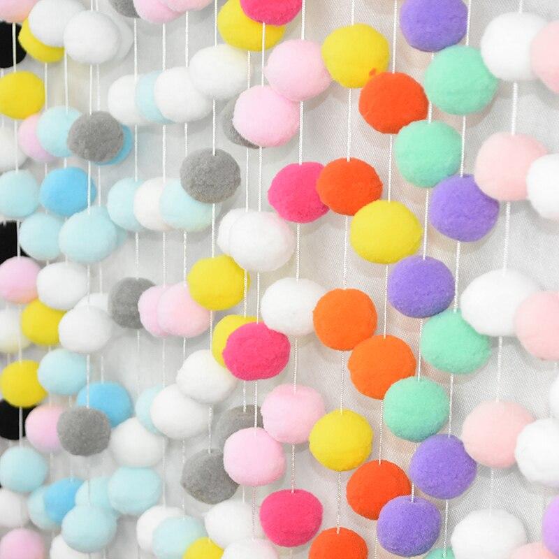 30 шт./компл. Ins скандинавский стиль шарик из шерстяного войлока кулон Deco Радуга Мягкий помпон гирлянда Сделай Сам ребенок спальня настенная кисточка висячий орнамент