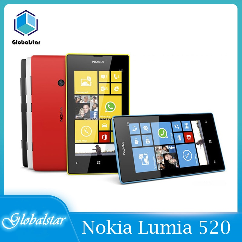 Nokia lumia 520 reacondicionado Original Lumia 520 teléfono celular Dual core 8GB...