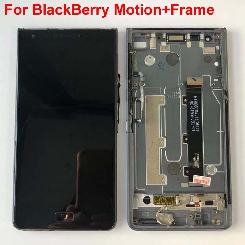 Original LCD 5,5 nuevo para BlackBerry Motion pantalla LCD + digitalizador de Panel de pantalla táctil con marco para BlackBerry Motion