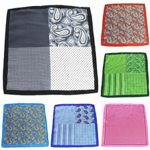 Ricnais New Fashion 25 x 25 CM Man Paisley Flower Dot Pocket Square Men Casual Patchwork Hanky For mens Wedding Handkerchief