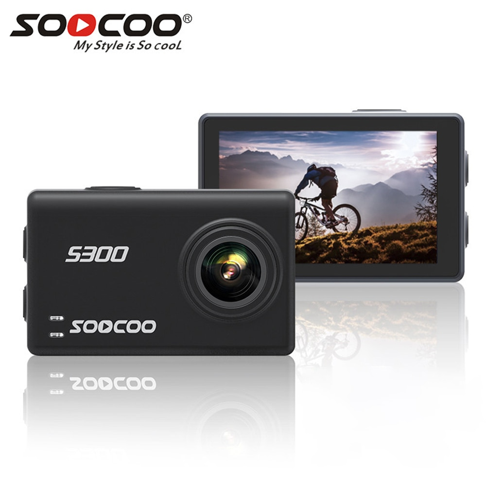 Review Soocoo S300 action camera 4k 30FPS 2.35″ Touchscreen wifi microphone  Mic remote control case camera sport camera 4k