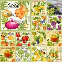 5d diy diamond painting oil painted fruit diamond embroidery scenery cross stitch full square round drill manual home decor gift
