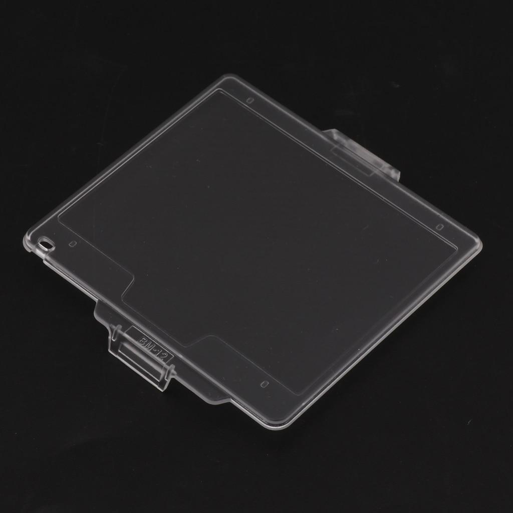 1 pacote BM-12 lcd monitor capa protetora caso duro protetor de tela anti-rachaduras & tampa à prova de poeira para nikon d800 câmera