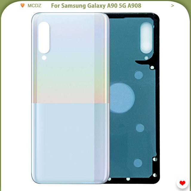 Original Battery Cover For Samsung Galaxy A90 5g A908 Back Glass Rear Door Housing Case Part Mobile Phone Housings Frames Aliexpress