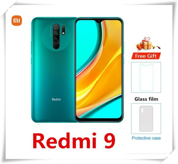 Глобальная версия Xiaomi Redmi 9 6 ГБ 128 Гб Смартфон Helio G80 Octa Core Android 10 мобильного телефона 13MP 6,53 дюйм 5020 мАч NFC мобильный телефон