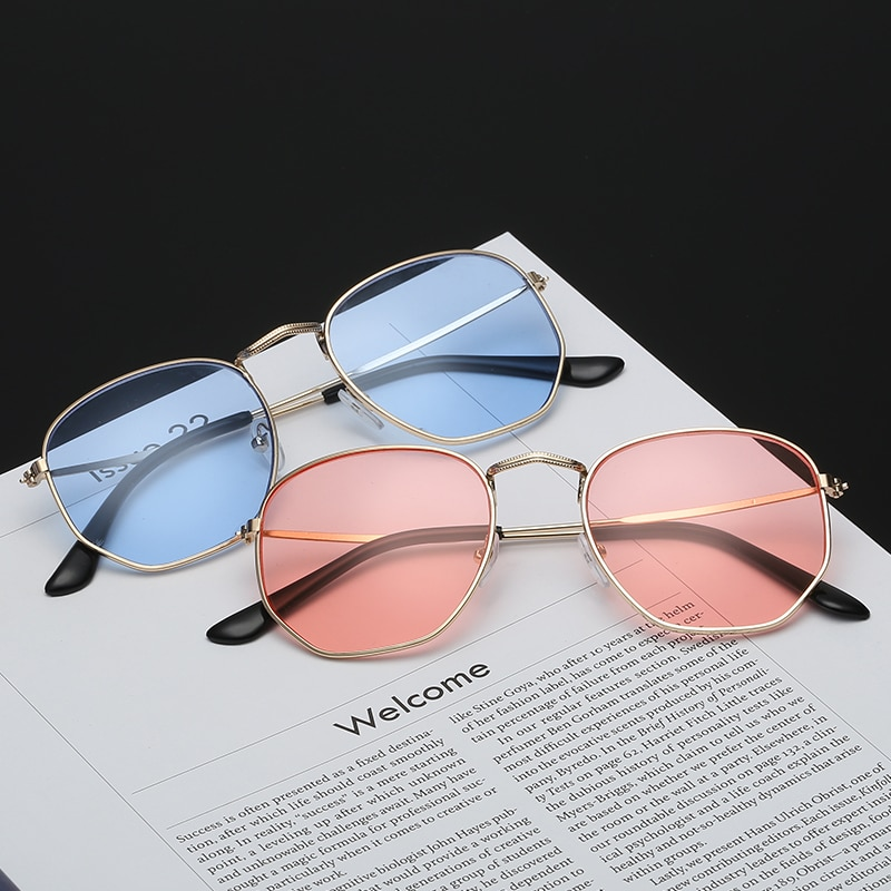 2020 Men Sunglasses Brand Designer New Vintage Women Pink Mirror  Flat Lenses Aviation Driving Sun G