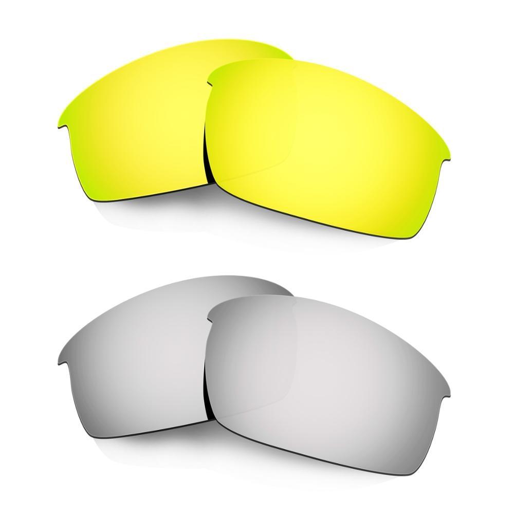 HKUCO ل Bottlecap النظارات الشمسية استبدال العدسات المستقطبة 2 أزواج-الذهب والفضة