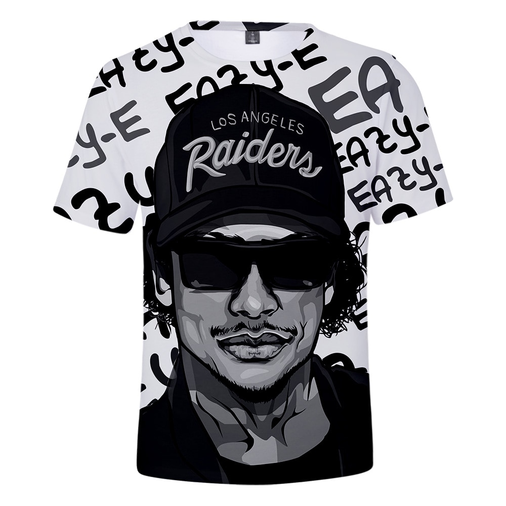 Фото Футболка Eazy E мужская с принтом Gangsta Rap модная тенниска короткими рукавами уличная