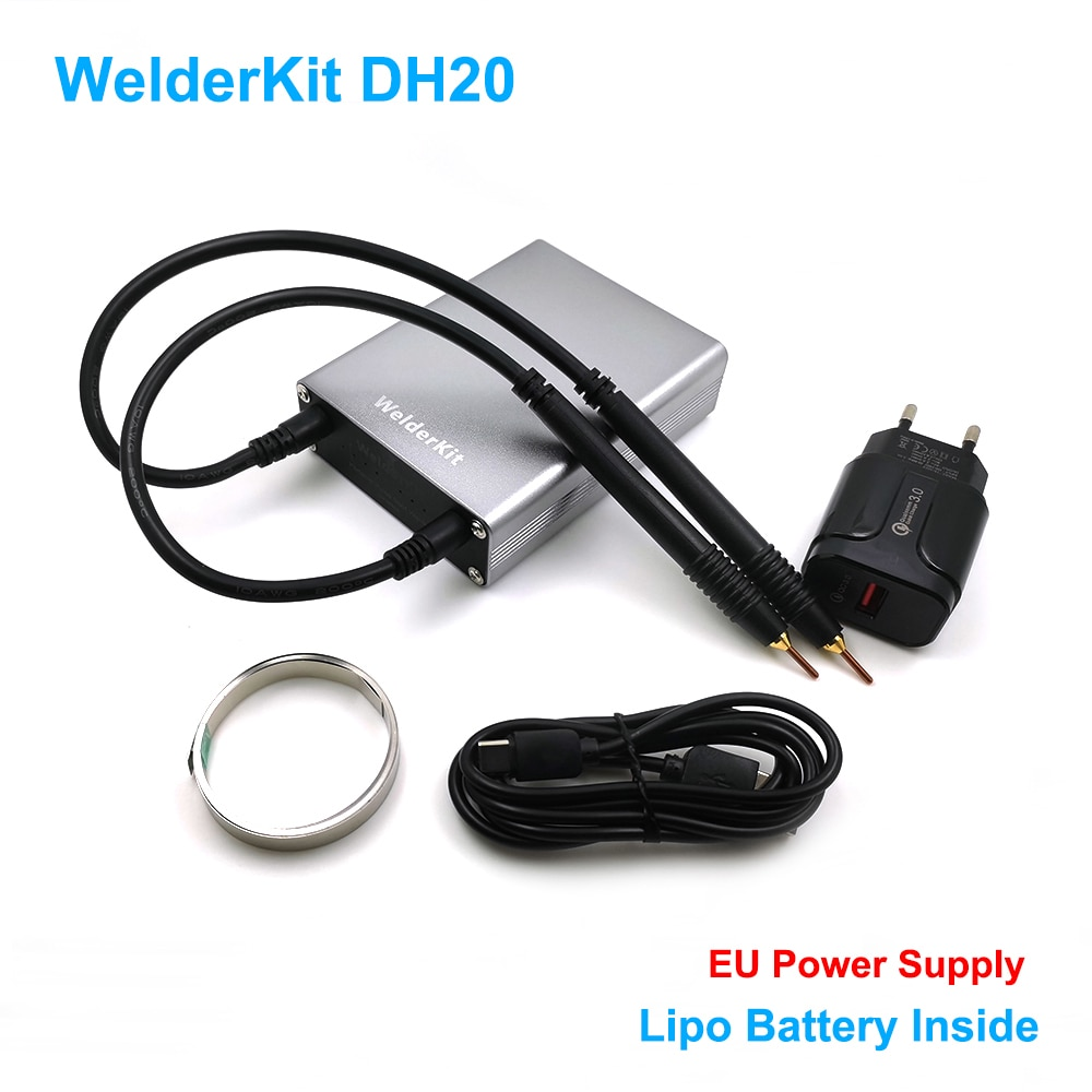 Welderkit DH20 Pro/DH30 ماكينة لحام نقطي صغيرة مع قلم الإفراج السريع لوحة النيكل ل 18650 بطارية لحام بقعة لحام