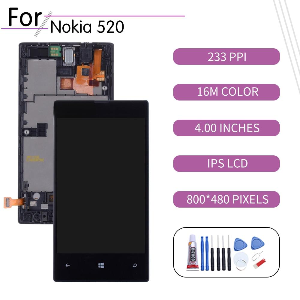 Original para Nokia Lumia 520 pantalla LCD de montaje de digitalizador con...